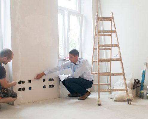 Eine Wohnung wird saniert - Makler Brehm