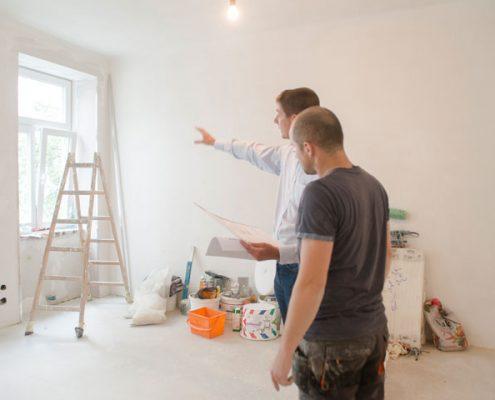 Eine Wohnung wird saniert - Immobilienmakler Brehm