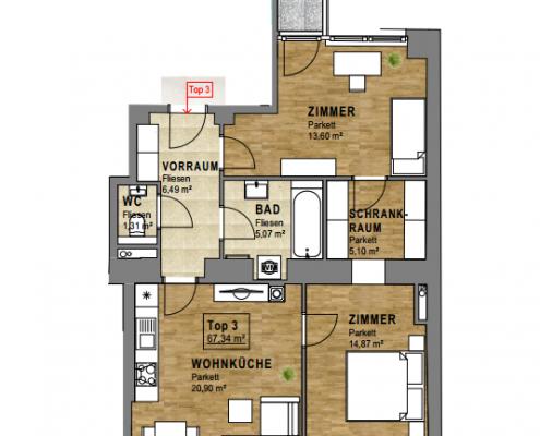3 Zimmer Wohnung Wien