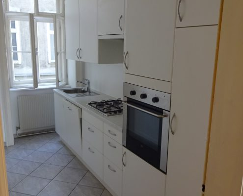 Altbauwohnung mit großer Küchenzeile
