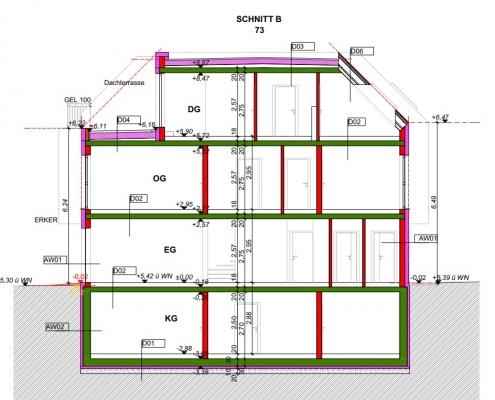 Schnitte B Haus1